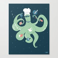 The Octopus Chef Canvas Print