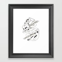 Crisp Bass Framed Art Print