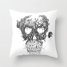 The Vulture Tree Throw Pillow