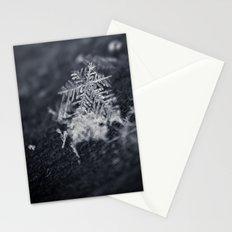 Macro Snowflakes 2 Stationery Cards