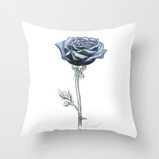 Rose 03 Botanical Flower… Throw Pillow