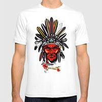 THE INDIAN SUMMER Mens Fitted Tee White SMALL