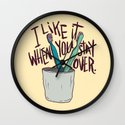 STAY OVER Wall Clock