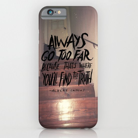 Camus on Finding the Truth iPhone & iPod Case