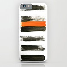 orange stripes iPhone 6 Slim Case