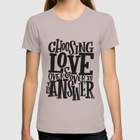 CHOOSE LOVE Womens Fitted Tee Cinder SMALL