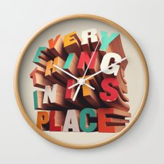 Everything In Its Place Wall Clock