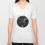 Elk And Rabbit Unisex V-Neck