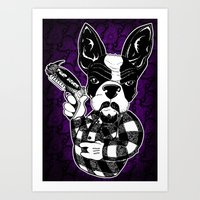 French Bulldog Gangster  Art Print