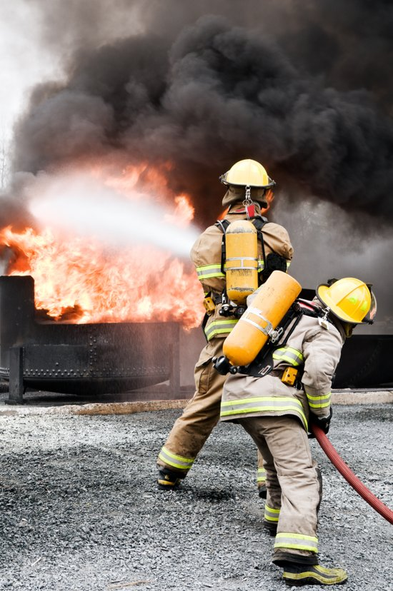 Firefighting Canvas Print