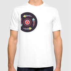Circles of Gators White Mens Fitted Tee SMALL