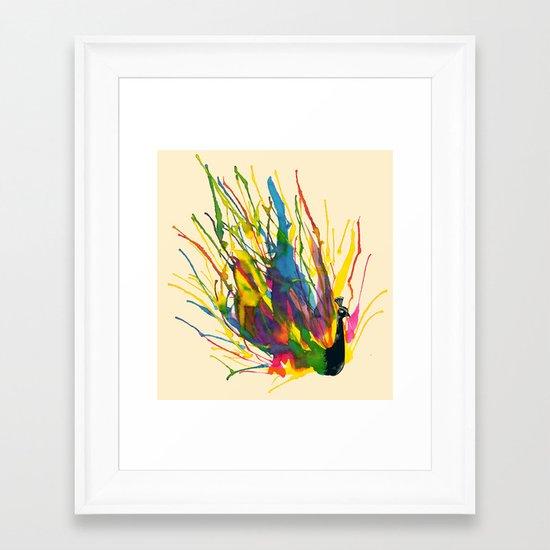 Colorful Peacock Framed Art Print