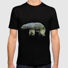 The Arctic Polar Bear Mens Fitted Tee Black SMALL