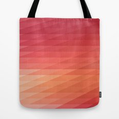 Fig. 044 Coral, Pink & Peach Geometric Diagonal Stripes Tote Bag