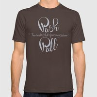 Push And Pull Mens Fitted Tee Brown SMALL