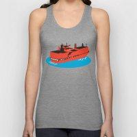 container cargo ship retro Unisex Tank Top