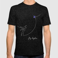 Fly higher Mens Fitted Tee Tri-Black SMALL
