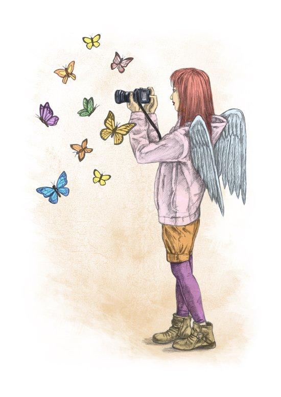 Photog Angel Art Print