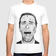 American Psycho Mens Fitted Tee White SMALL