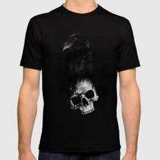 Raven and Skull SMALL Black Mens Fitted Tee