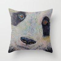 Panda Portrait Throw Pillow