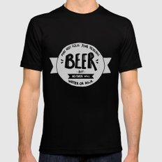 Beer Mens Fitted Tee SMALL Black