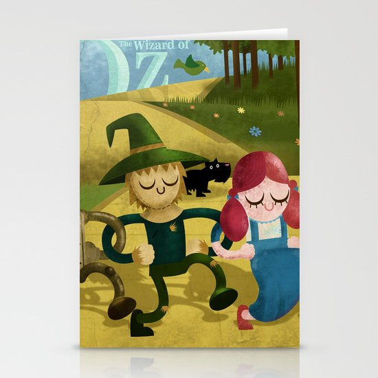 Wizard of Oz fan art Stationery Card