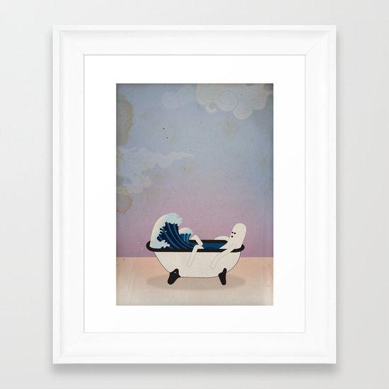 o n d a t a Framed Art Print