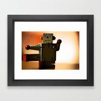 Kung Fu Robot Framed Art Print