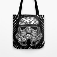 Tote Bag featuring Trooper Star Circle Wars by Msimioni