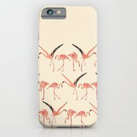 iPhone & iPod Case featuring vanilla flamingos by Sharon Turner
