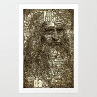 Leonardo da Vinci Art Print