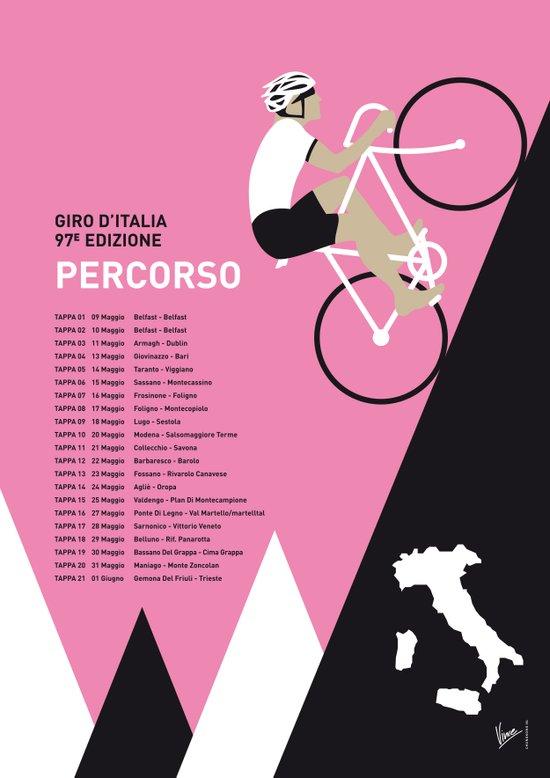 MY GIRO D ITALIA MINIMAL POSTER 2014-PERCOSO Art Print