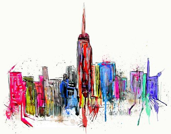 new york inked  Art Print