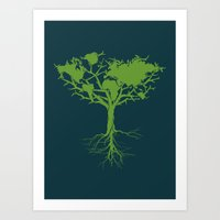 Earth Tree Art Print