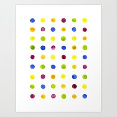Candied Polka Dots Art Print