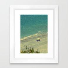 Lady on the Italian Riviera Framed Art Print