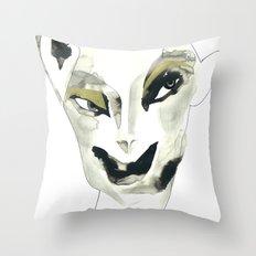 a faint smile Throw Pillow