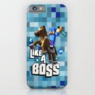 Bright Blue 8 Bit Diamon… iPhone 6 Slim Case