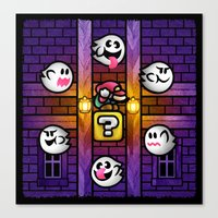 Boos in the Haunted House Canvas Print