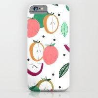 Apple print. illustration, art, print, design, pattern, fruit, food, fun, print design iPhone 6 Slim Case