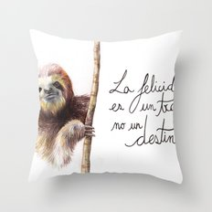 Paresseux Throw Pillow