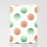 Mint And Pink Bubbles Stationery Cards