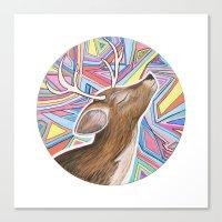 Psychedelic Deer Canvas Print