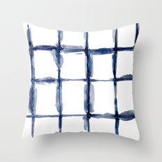 Watercolor Indigo Shibor… Throw Pillow