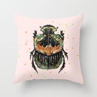 INSECT X Throw Pillow