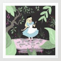 alice in wonderland Art Prints featuring Wonderland by gabby ramirez