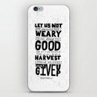 16/52: Galations 6:9 iPhone & iPod Skin