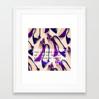 A nice pair of shoes Framed Art Print