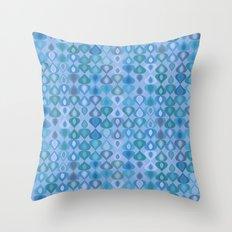 gouttelette aqua Throw Pillow